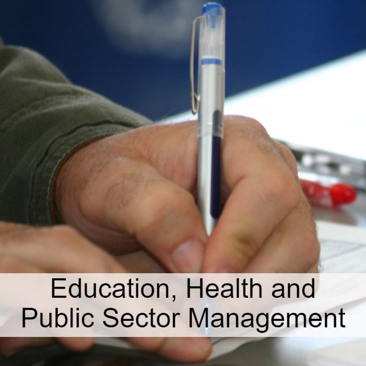 Education, Health and Public Sector Management: link to titles